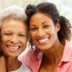 African-american woman with her mother