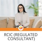 """female immigration consultant, text: """"RCIC (Regulated Consultant)"""""""
