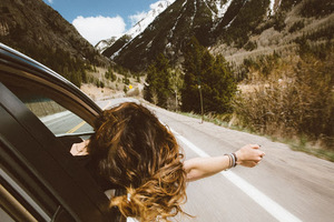 Girl on a road trip enjoying her life in Canada