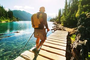 Immigrant exploring Canada nature
