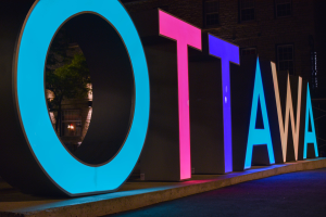 Ottawa Signage in Canada